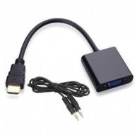 Конвертер пассивный HDMI на VGA + 3.5 mm Аудио