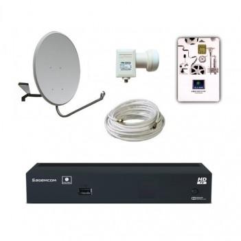 Комплект НТВ плюс HD с ресивером Sagemcom DSI74 HD и договором, тарелка 0.6