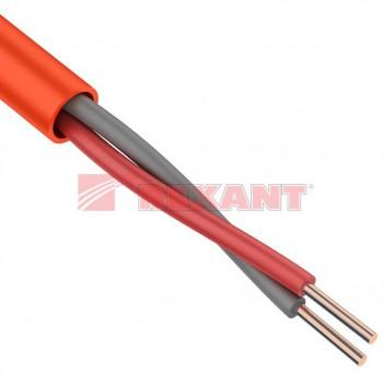 Кабель огнестойкий для сигнальной проводки КПСнг(А)-FRLS 1x2x1,5мм² REXANT (1,4мм)