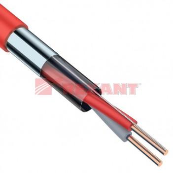 Кабель огнестойкий для сигнальной проводки КПСЭнг(А)-FRLS 1x2x0,5мм² REXANT (0,75мм)