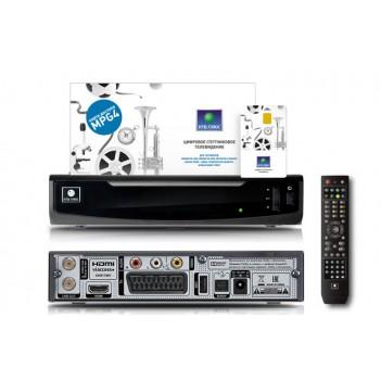 Комплект НТВ плюс HD с ресивером Opentech HD OHS1740V и договором  тарелка 0.6