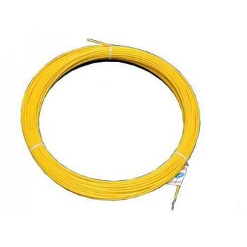 Протяжка кабельная (мини УЗК в бухте) 5м стеклопруток, d=3мм, латунный наконечник, заглушка