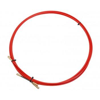 Протяжка кабельная (мини УЗК в бухте) стеклопруток d=3,5мм, 5м (красная)