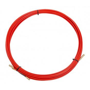 Протяжка кабельная (мини УЗК в бухте), стеклопруток, d=3,5мм, 15м (красная)