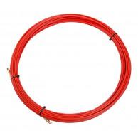 Протяжка кабельная (мини УЗК в бухте), стеклопруток, d=3,5мм, 20м (красная)