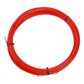 Протяжка кабельная (мини УЗК в бухте), стеклопруток, d=3,5мм, 30м (красная)